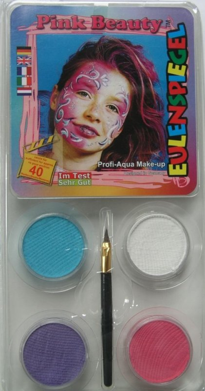 Set 4 culori face painting, Pink beauty - Eulenspiegel