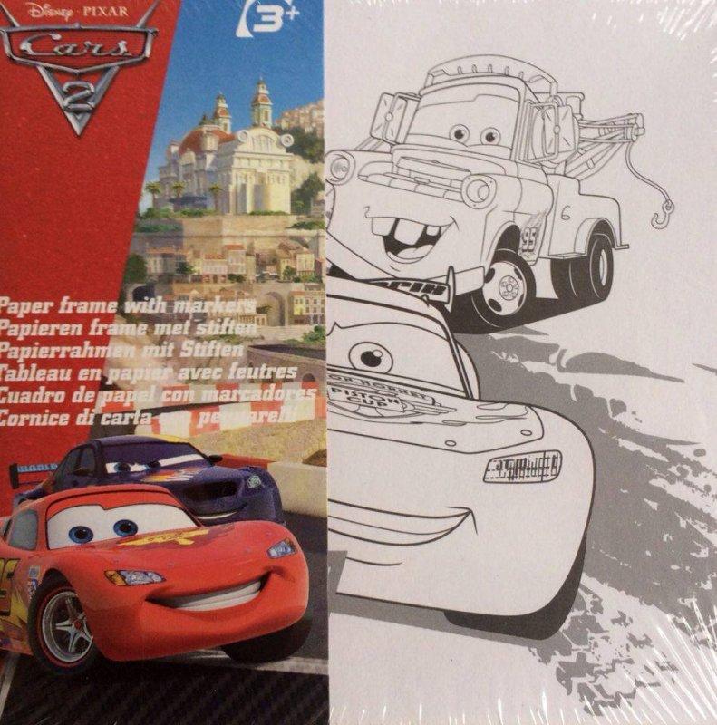 702405 - Hartie Disney gen panza pe sasiu - print Cars, 10x10cm - ANT-CH