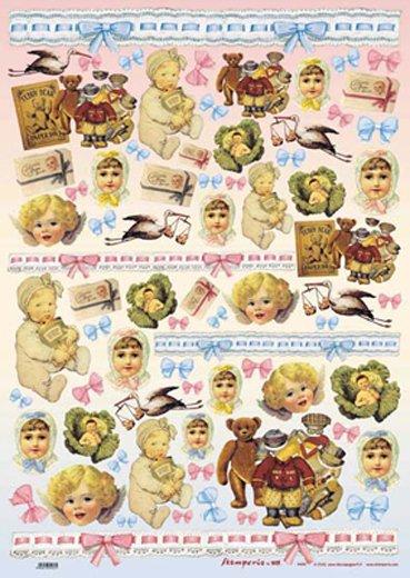 Hartie decoupage 80 gr, 50 x 70, Babies - DFG57-DISC
