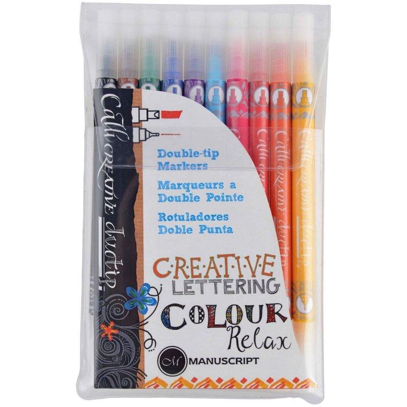 MM7001 - Set 10 markere colorate cu doua capete - Callicreative