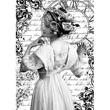 DFSA4165 - Hartie de orez A4 - Stamperia - Romantic woman