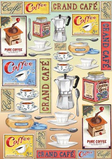 Hartie decoupage 80 gr, 50 x 70, - DFG316 Coffe