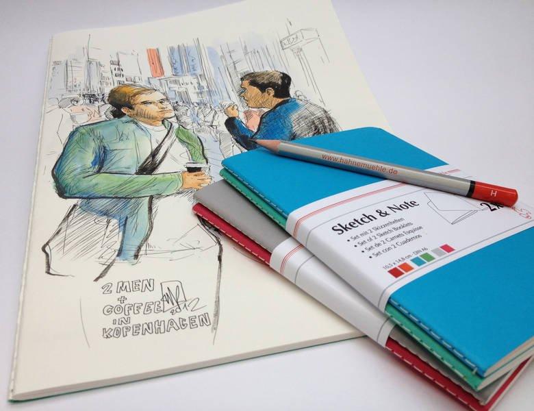 Caiete pentru schite Sketch&Note - pachet 2 buc - Hahnemuhle