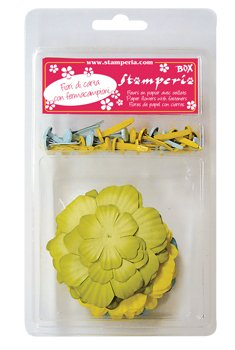 PCF10 - Set flori hartie, Stamperia - verzi