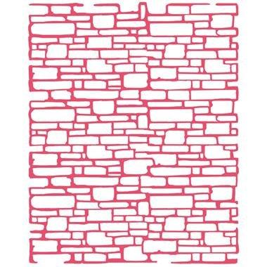 KSTD007 - Sablon 20x25x0.2mm gosime - bricks texture - Stamperia
