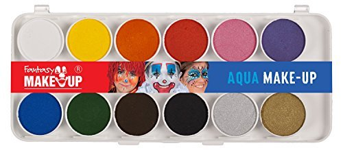 37071 Set 12 pastile culori pt fata si corp + 2 pensule Fantasy Make-up - Kreul