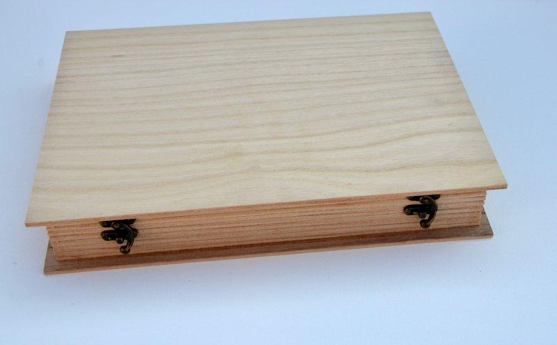 355982 - Cutie lemn forma carte - A4 - ANT-CH
