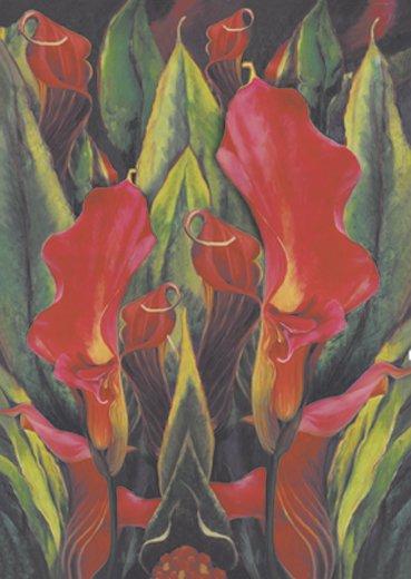 Hartie decoupage 80 gr, 50 x 70, Calla lily - DFG277