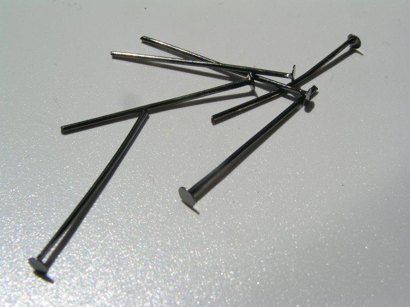 Set 10g ace cui negre, 2.5 cm