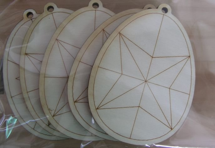 Set 5 forme lemn, nr 45, Pentart, ou