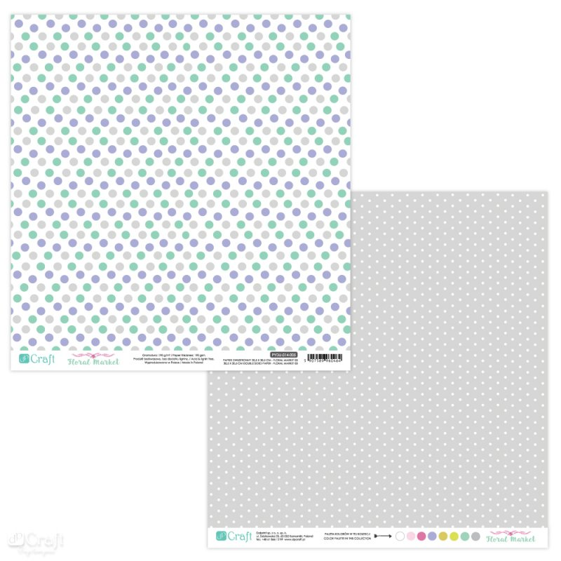 PYDU-014-P05 Hartie scrap booking - 30.5x30.5 Floral Market 5 - DP CRAFT