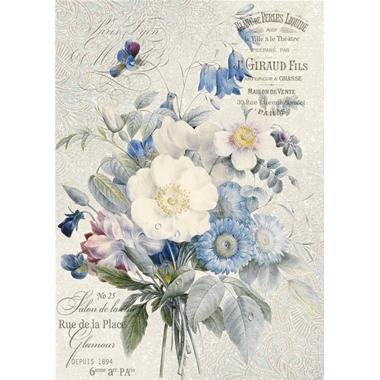 DFSA4149 - Hartie de orez A4 - Stamperia - old England bouquet