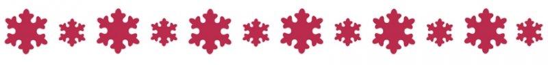 KSE107 - Sablon 60 x 7cm, Stamperia bordura - country snowflake