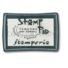 WKP20G - Stampila - tusiera - pigment transparent, pentru embosare - Stamperia