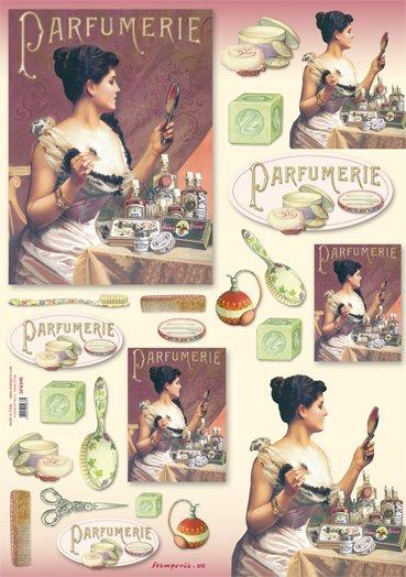 Hartie decoupage 80 gr, 50 x 70, - DFG345 - Parfumerie-DISC