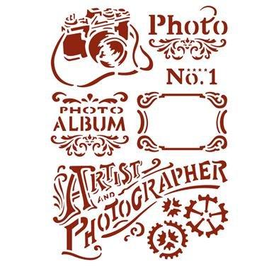 KSG394 - Sablon 21 X 29.7 cm - Artist and photographer - Stamperia