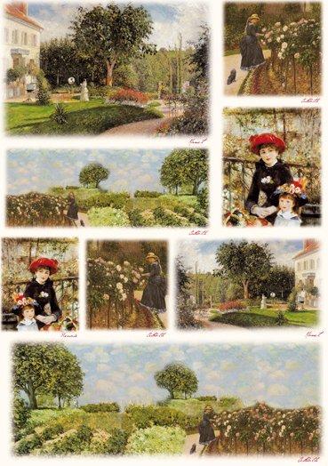 Hartie decoupage 80 gr, 50 x 70, - DFG328 Impressionist