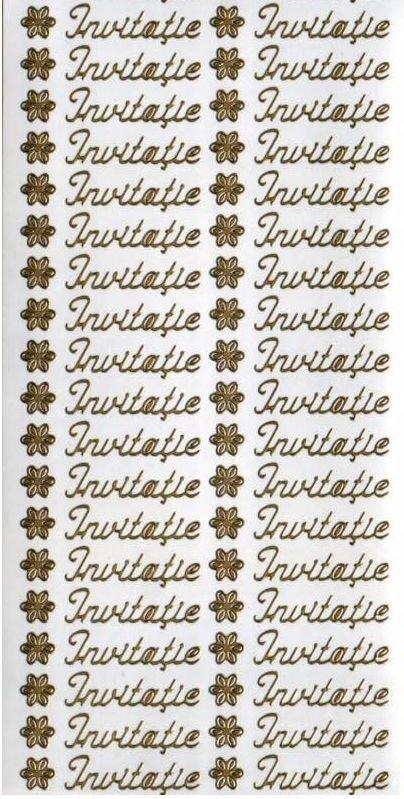 Sticker auriu - invitatie - 2901 - INTER D