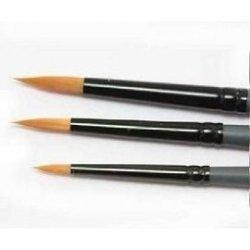 Set 3 pensule sintetice rotunde, 2, 6, 10 - Lefranc