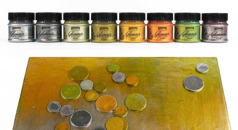 Culori acrilice metalizate - Glamour - 50ml. Pentart