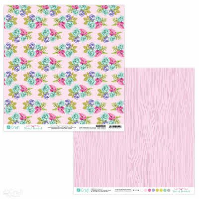 PYDU-014-P04 Hartie scrap booking - 30.5x30.5 Floral Market 4 - DP CRAFT