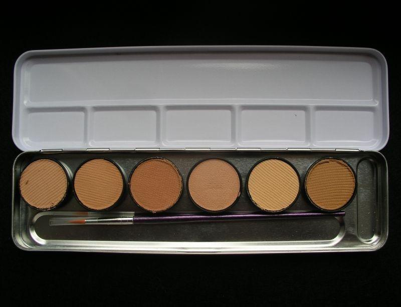 Set 6 culori profesionale Make-up - piele - cutie metal - 206065