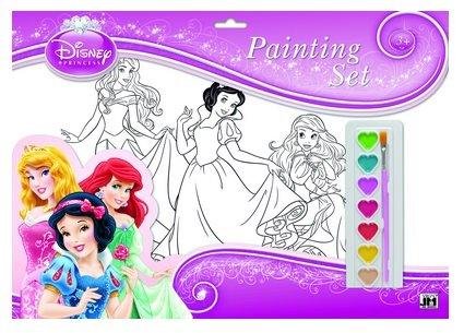 7032402 Set 8 planse A3 pentru pictat + culori - Princess - LIBR.