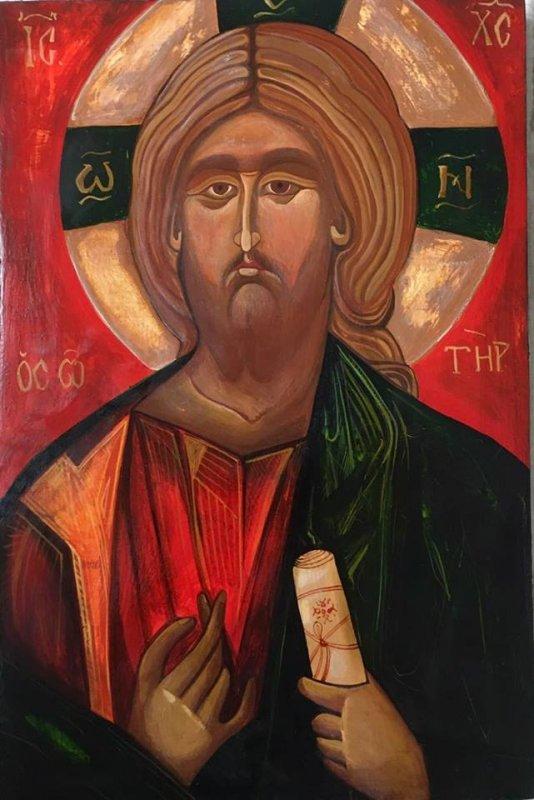 Icoana pe lemn - Iisus Hristos - 20x30cm