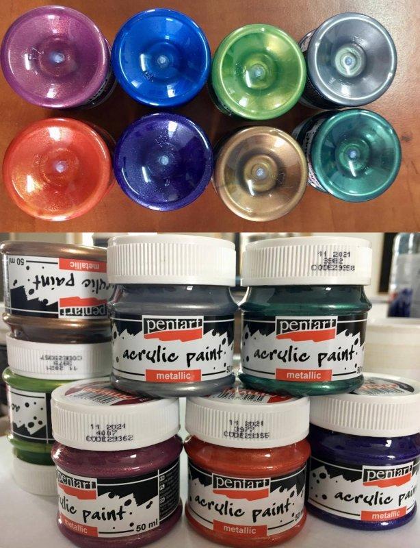 Culori acrilice metalizate - Pentart 50 ml