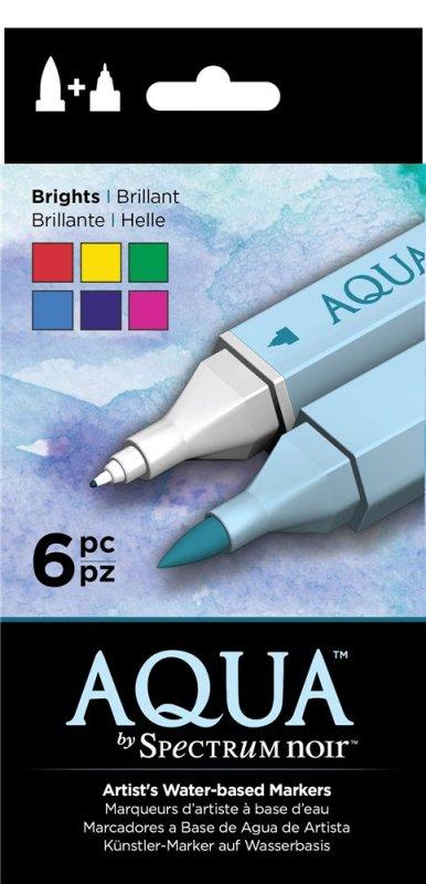 SPECN-AQ6-BRI Set 6 Markere Spectrum Aqua - Brights - Crafters Companion