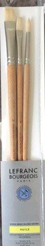Set 3 pensule mixte, par porc - Lefranc Bourgeois