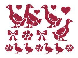KSD36 - Sablon 20 15, Stamperia - goose