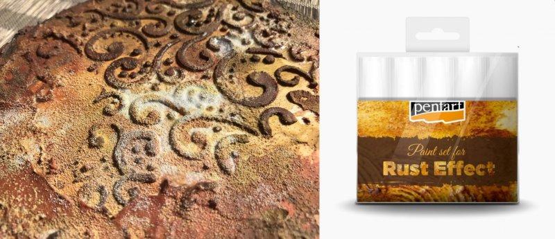 29762 - Rust effect set - Set culori efect rugina - 5x20ml - Pentart