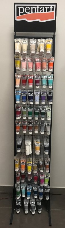 PENTART - Display 4 - Culori acrilice 60 ml x 372 buc. - Creamy Acrylic Paint