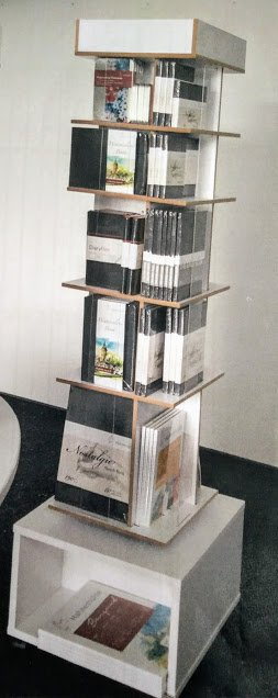 10629005 Display rotativ pentru podea cu 4 laturi, pentru blocurile de desen si acuarela - 118 blocuri - Hahnemuhle