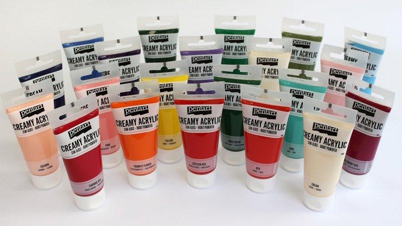 Culori acrilice 60ml - Creamy Acrylic Paint - semi-gloss - Pentart