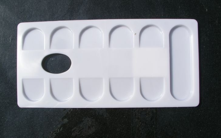 Paleta dreptunghiulara plastic 11.5 x 24 cm ,070752