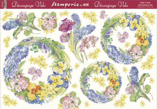 Hartie vello decupaj Stamperia DFV 163 - 48 X 33,5 - Hyacinth