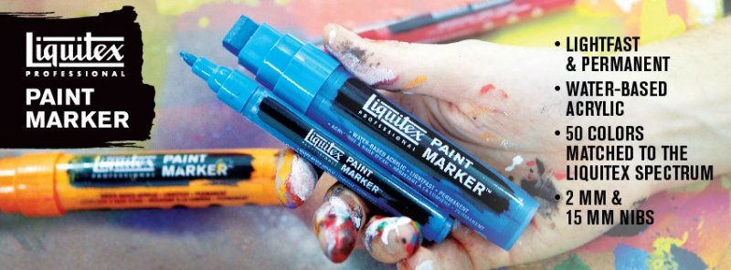 Professional Paint Marker 8-15 mm - Liquitex