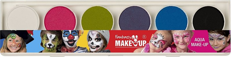37073 Set 6 pastile pt fata si corp + 2 pensule- Fresh Colors - Fantasy Make-up - Kreul