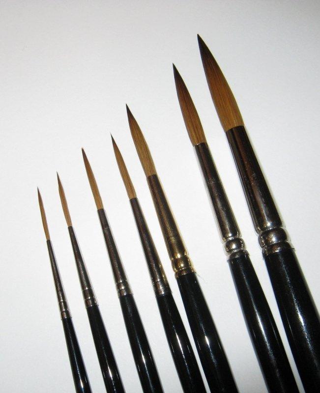 Pensule liner-schleper din par natural seria 301 - Vincent