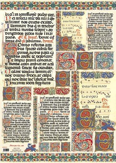 Hartie decoupage 80 gr, 50 x 70, Manuscript - DFG221