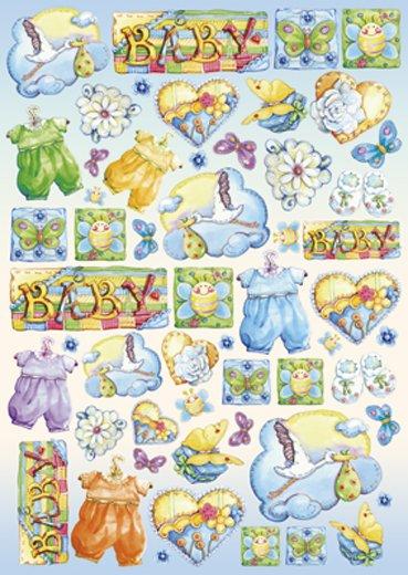 Hartie decoupage 80 gr, 50 x 70, - DFG297 Baby Boy-DISC