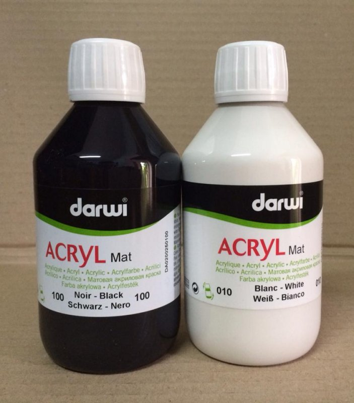 Acrilic mat 250ml Darwi