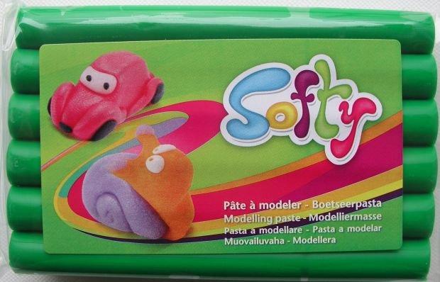 Pasta de modelaj Darwi - Softy - 500g - Verde 600 - 408613