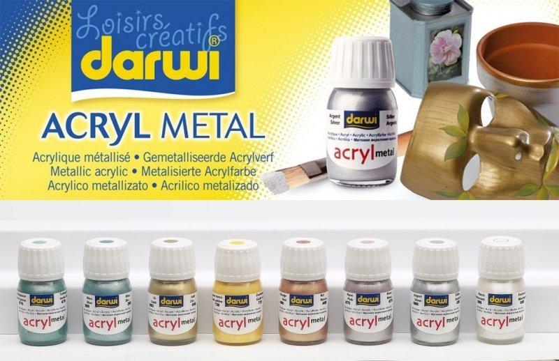 Acrilic metalizat Darwi 30ml