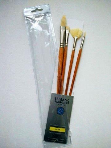 Set 4 pensule mixte, par porc - Lefranc Bourgeois