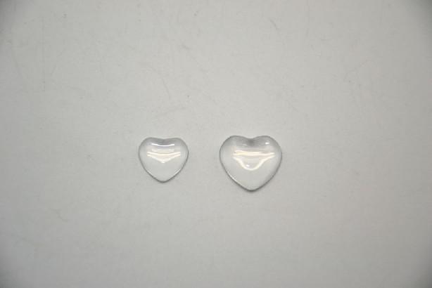 366376 - Cabochon inima sticla 18 mm - ANT-CH
