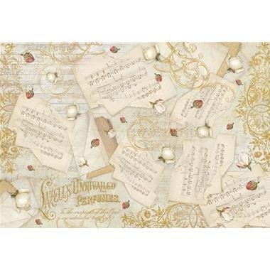 DFS348 - Hartie de orez Stamperia 48x33 cm - music and buds