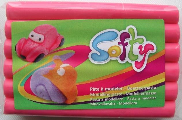 Pasta de modelaj Darwi - Softy - 500g - Roz 475 - 408606